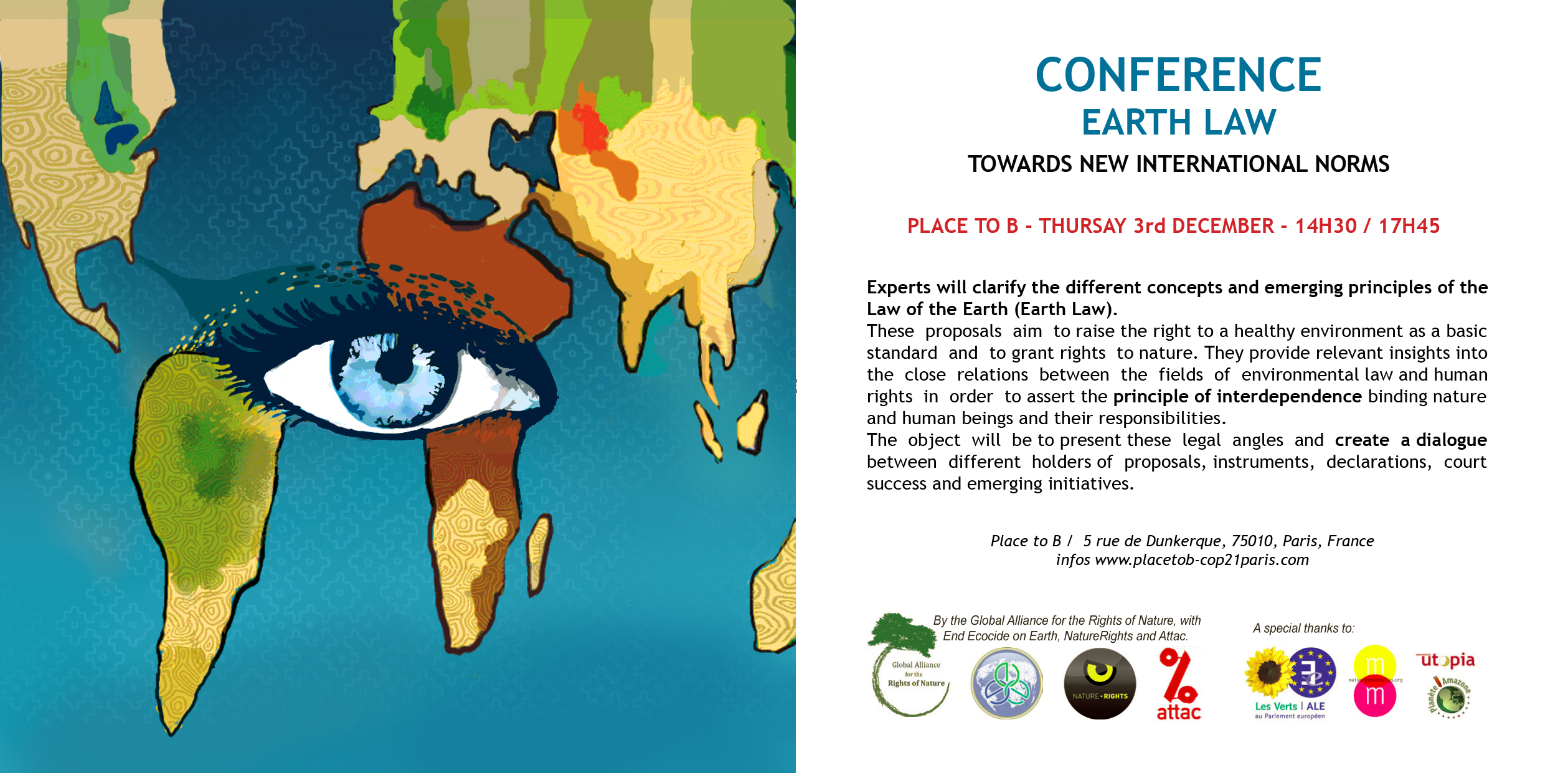 Conference on earth law end ecocide on earth